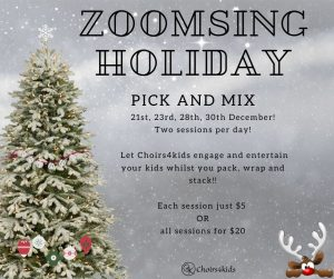 Zoomsing Holiday Sessions